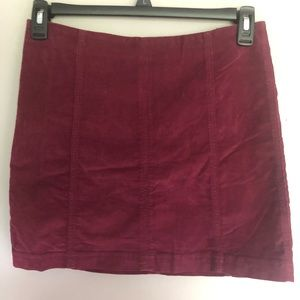 Free People Corduroy Skirt Size 10